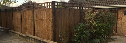 All timber fence erected in Orpington.