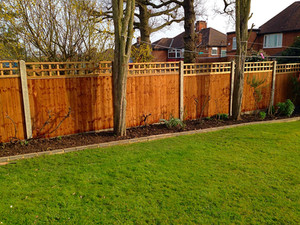An install of fencing in Blackfen.