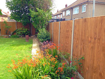 An example of how straight and level your fencing should look when installed correctly.