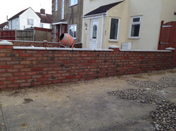 Front Garden wall In Bromley.