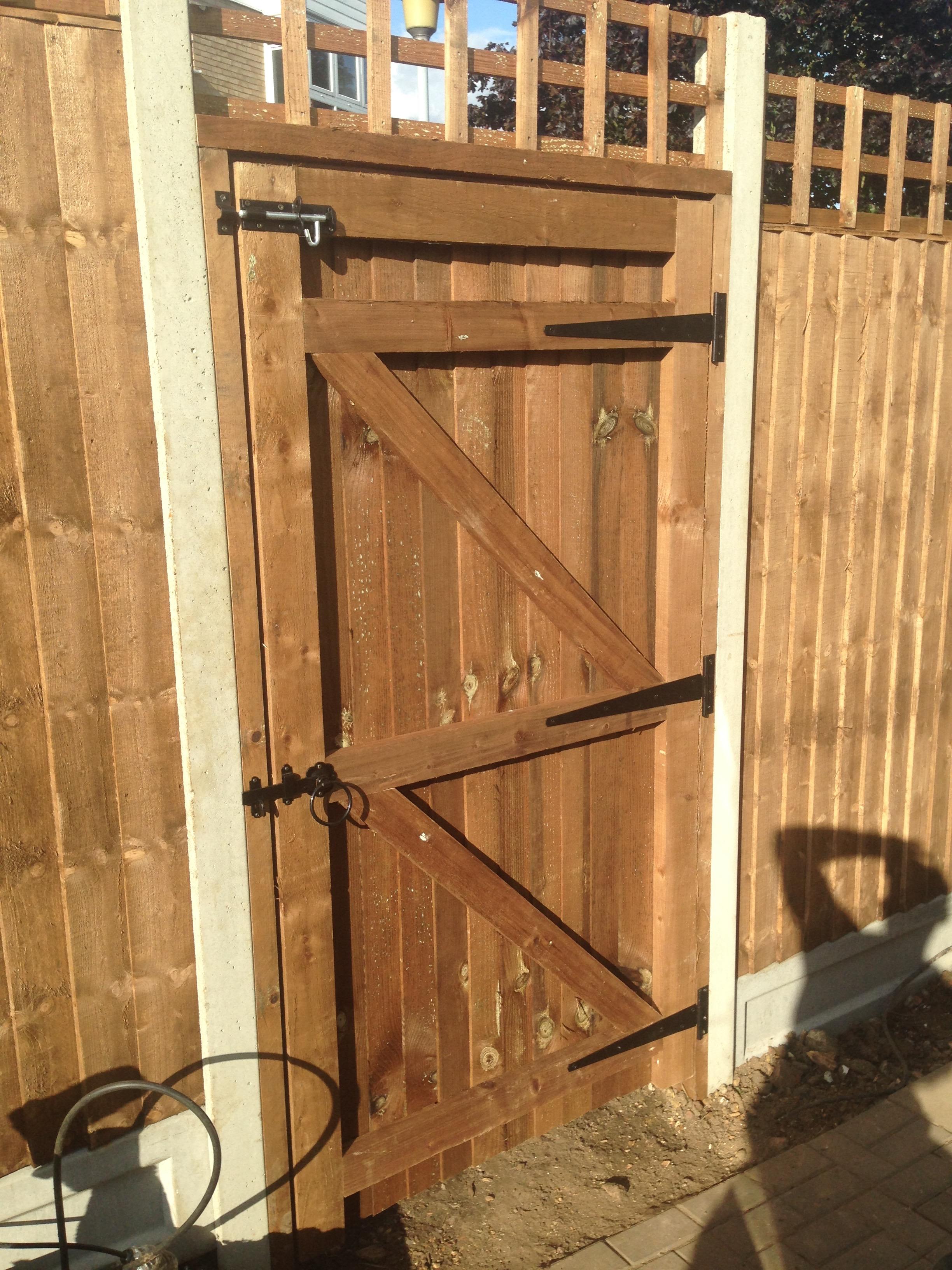Solid wooden gate in Dartford