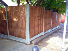 6ft high close board panel fencing in Sidcup.