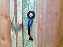 A handle for the key lock.