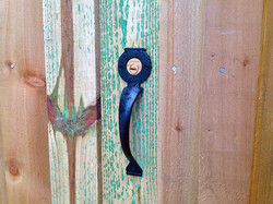 Handle for a key lock in Bexley.