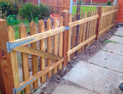 Picket fence and gate.