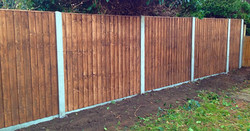 Close board fence panel.