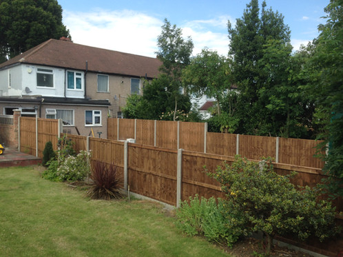 We installed fencing on both sides of the garden this time!
