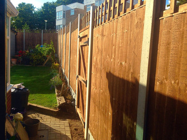 A gate and fence installed in Barnehurst.