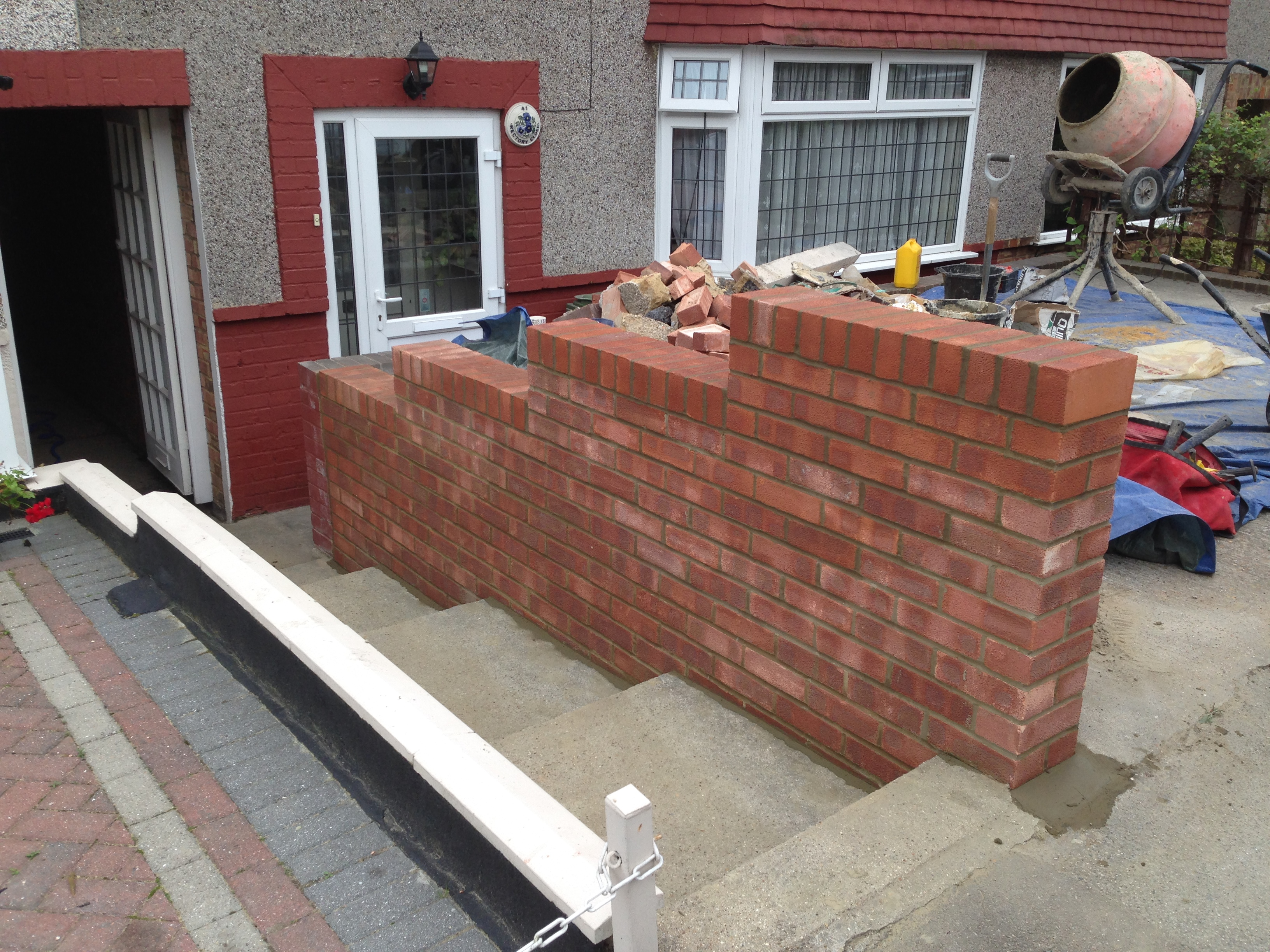 Front Garden wall In Bexley DA7