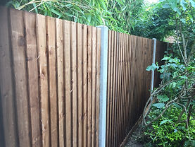 A run of feather edge fencing in Orpington.
