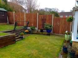 Close board fencing in Dartford.