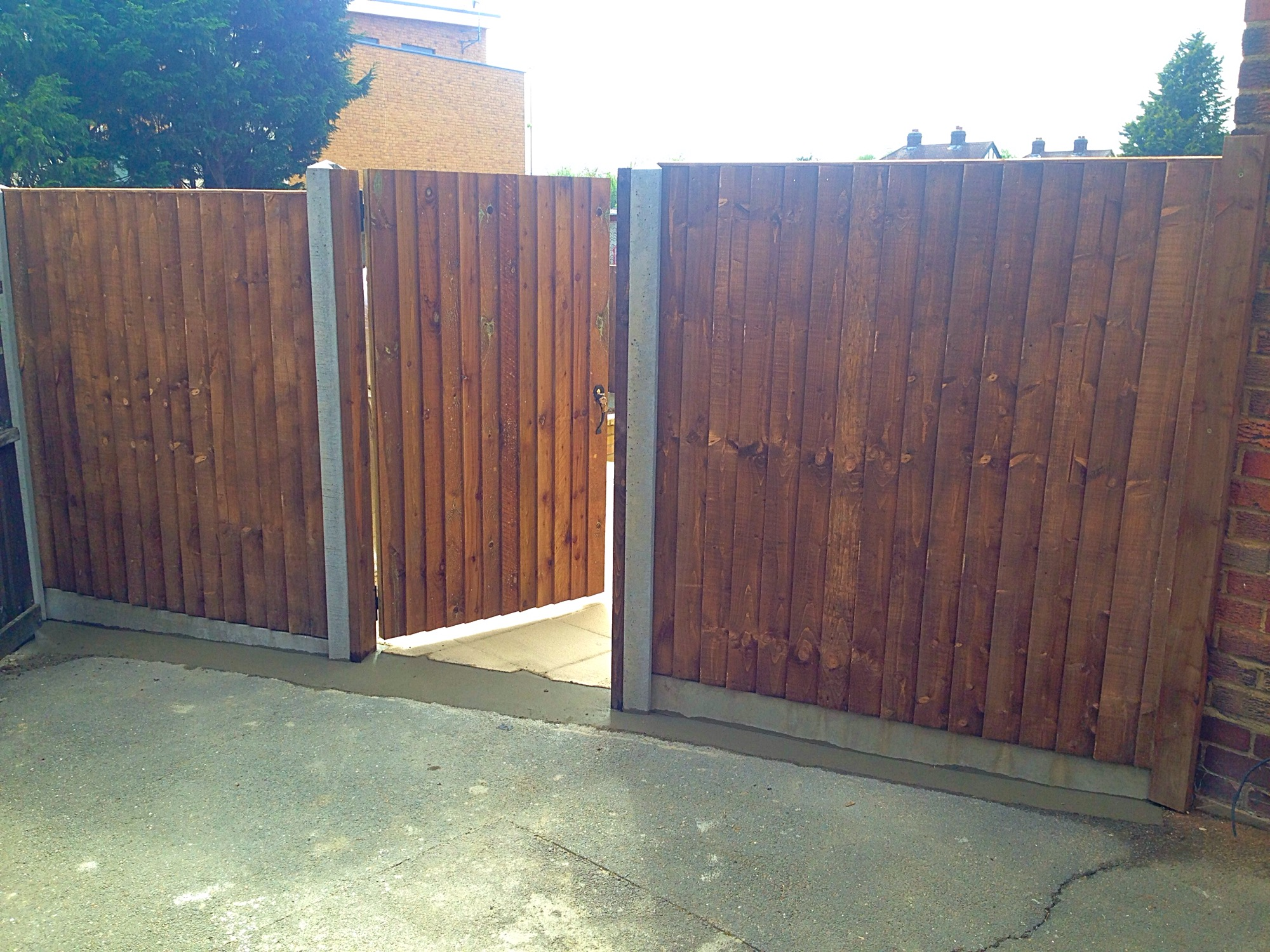 Close board fence and gate.