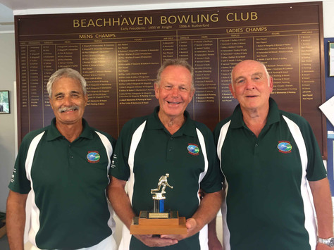 Ladies Pairs and Men's Triples Championships wrapped up for 2018.