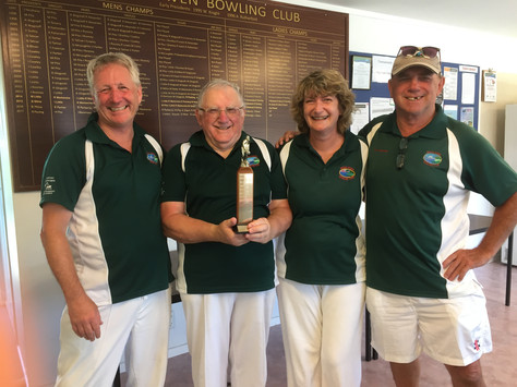 Inaugural Mixed Triples Club Trophy - a great start to 2019.