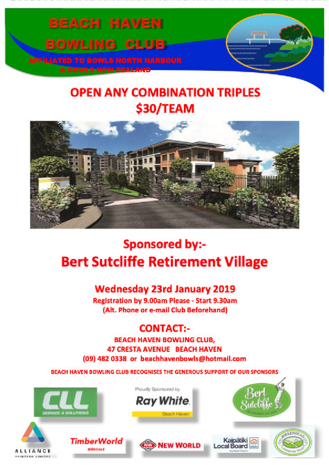 OACT Tournament - Sponsor Rymans Bert Sutcliffe