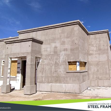 Montamos los Paneles Steel Frame en el Barrio San Ramón