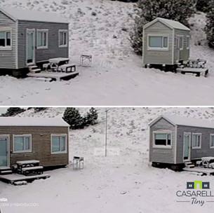 Nieve en Villa Pehuenia