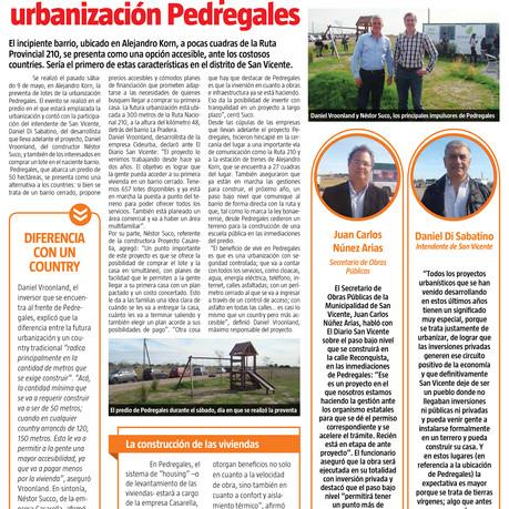 Diario San Vicente: Se llevó a cabo la pre-venta de lotes de la urbanización Pedregales