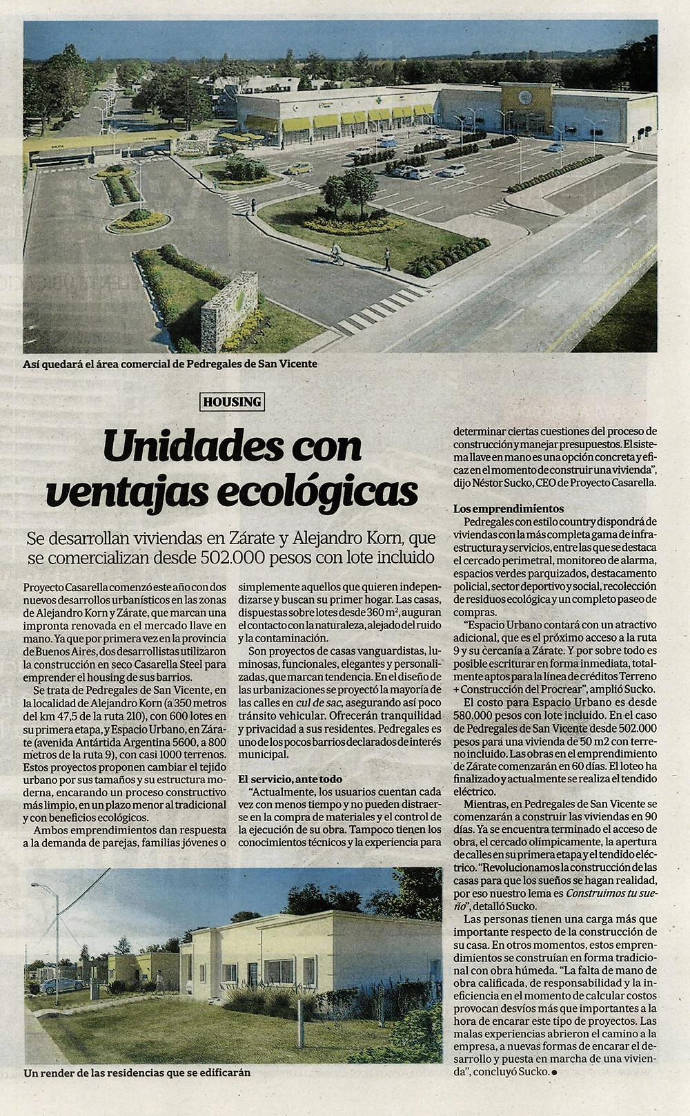 Casarella en Diario La Nación