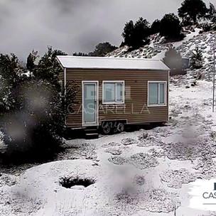 ¡Llegó la nieve a Villa Pehuenia!