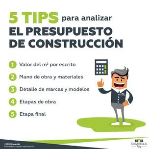 5 tips para analizar el presupuesto de construcción