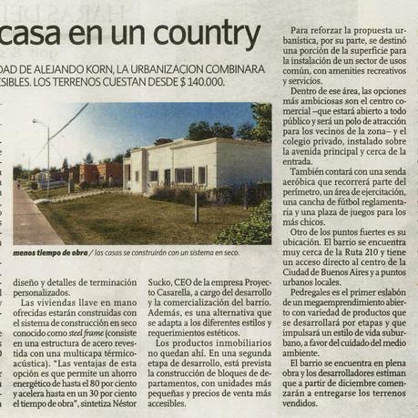 Diario Clarín Countries: Primera casa en un Country