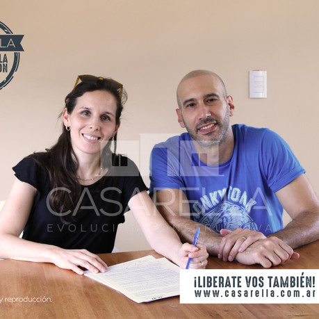 Una nueva familia tendrá su Casarella en Estancia Las Malvinas!