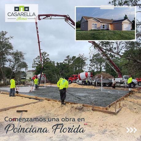 Comenzamos a construir en Poinciana, Florida en Estados Unidos