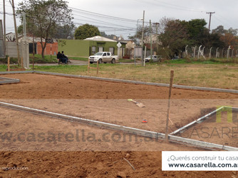 Iniciamos la construcción de la primera casa en nuestro barrio Tierras de Casarella.