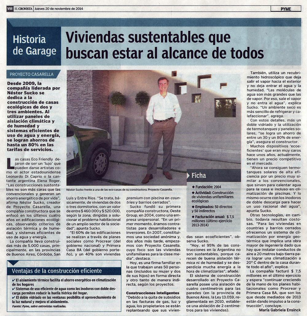 Casarella en Diario El Cronista