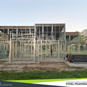Montamos la estructura Steel Frame de esta Casarella en San Nicolás