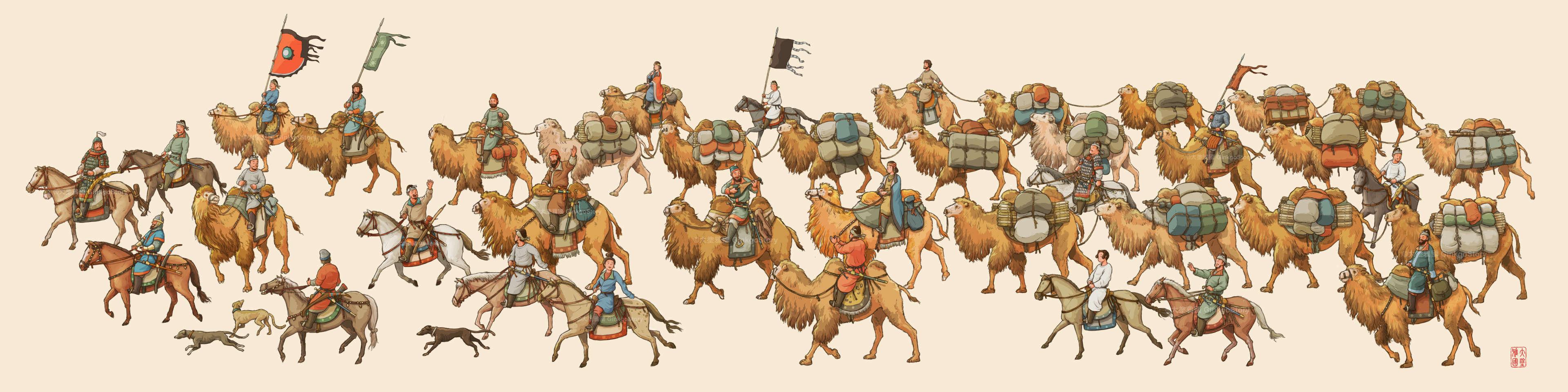 Sogdian Caravan during Tang Dynasty