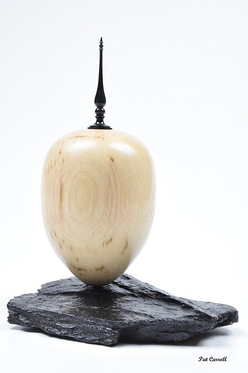 Ash Hollow Form with African Blackwood finial