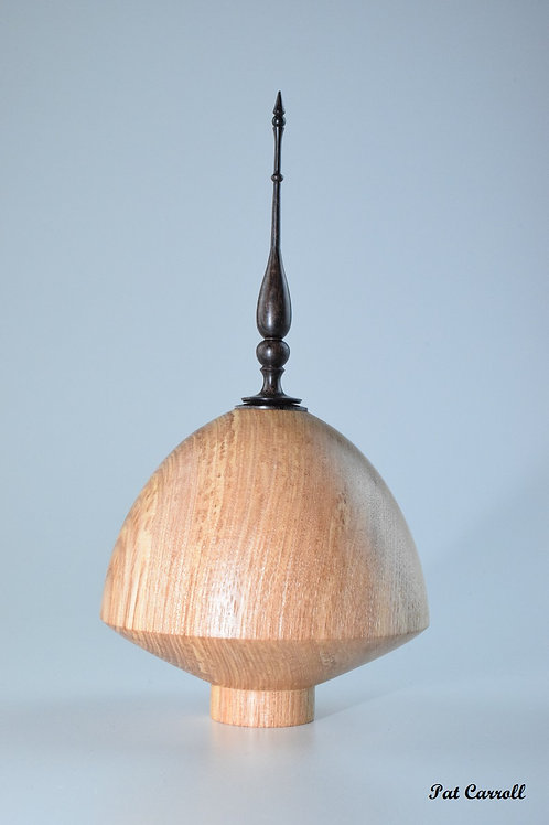 Ash hollow with African Blackwood finial