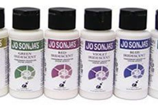 SET 2 - 6 x Jo Sonja 60ml Bottle Iridescent Acrylic Paint + 250 ml Flow Medium