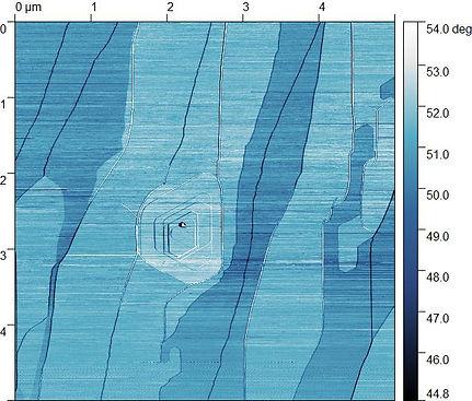 3)AFM image-Crystal orientation of Graph