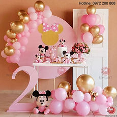 Trang trí sinh nhật bé gái