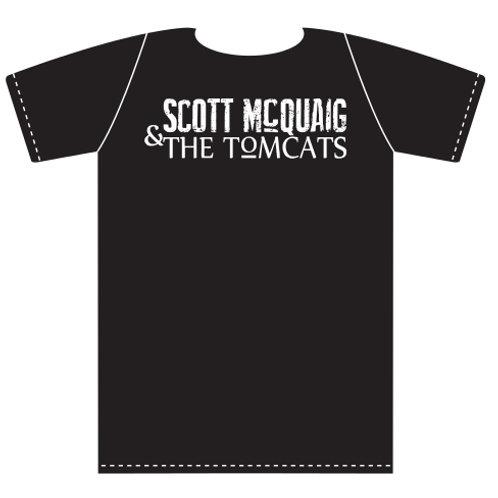 Scott McQuaig & The Tomcats Band Logo Tshirt