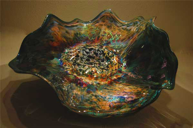 """Orions Nebula"" ~ Blown Glass Platter"