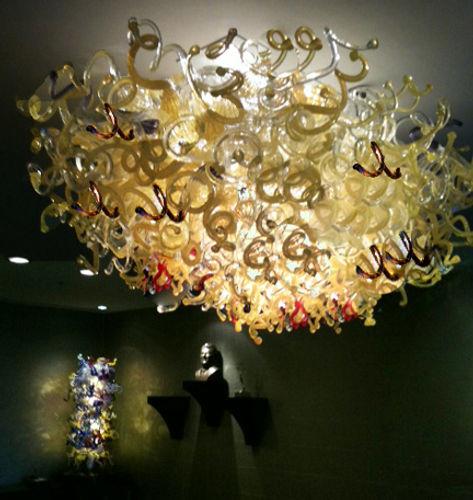 Blown Glass Chandelier | Glass Chandelier | Hand Blown Glass Chandelier | Art Glass Chandelier | Custom Glass Chandelier