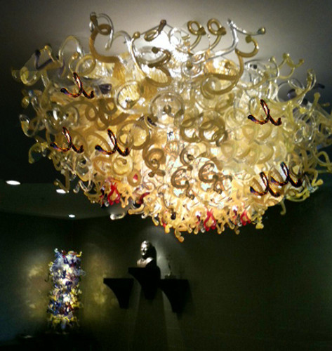 Blown Glass Chandelier | Glass Chandelier | Hand Blown Glass Chandelier | Art Glass Chandelier | Custom Glass Chandelier