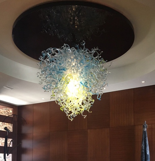 Blown Glass Chandelier | Glass Chandelier | Hand Blown Glass Chandelier | Glass Chandelier