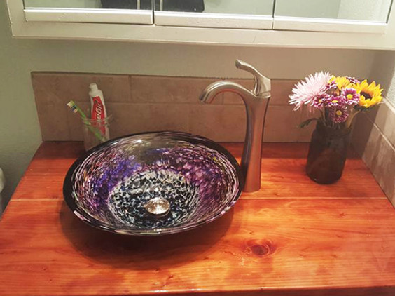 Blown Glass Sink, Glass Sink, Glass Basin Sink