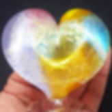 Glass Cremation Heart Sculpture Paperweight