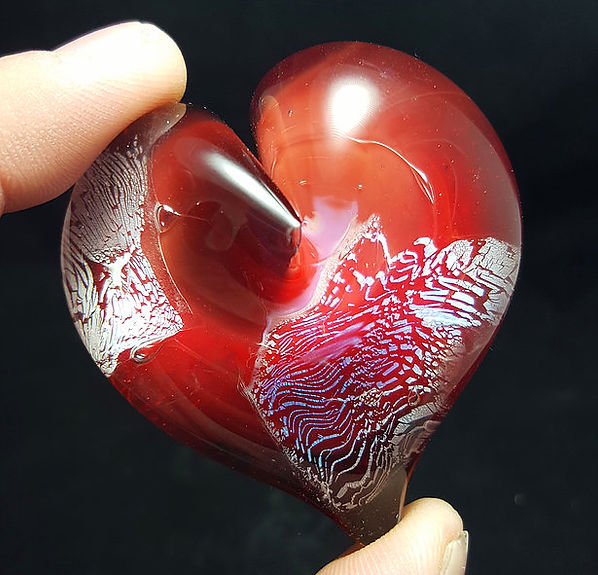 Glass Cremation Jewelry   Glass Heat Pendant with Ashes   Memorial Glass Art