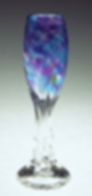 """Sacred Rainbow"" ~ Blown Glass Champagne Flute"