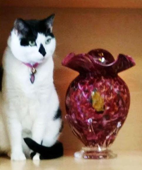 Glass Urn, Blown GlassUrn