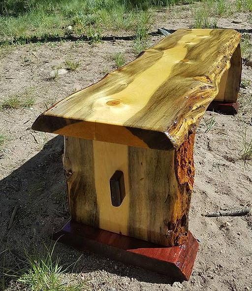 Live Edge Slab Benches