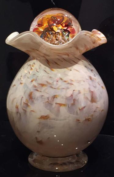 Blown Glass Cremation Urn
