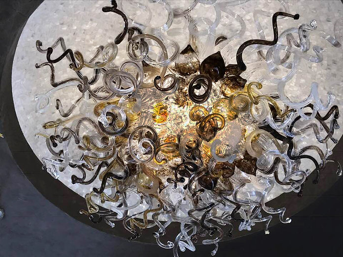 Blown Glass Chandelier | Art Glass Lghting